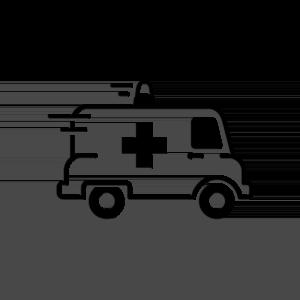 ambulance icon black and white