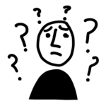 sketch of confused guy