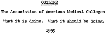 1959 AAMC meeting notes