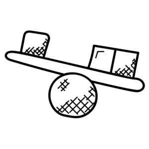 icon of items balancing on a ball