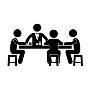 card players around table