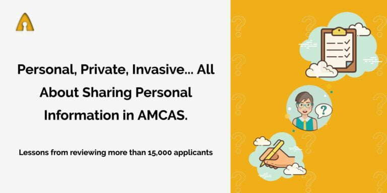 feature image on sharing personal information in amcas